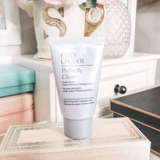 Estee lauder perfectly clean multi action foam cleanser / purifying mask • authentic skincare