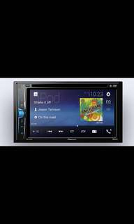 "New Set, Pioneer AVH-A205BT Double-DIN DVD Multimedia AV Receiver with 6.2"" WVGA Touchscreen Display, Built-in Bluetooth®, and Direct Control for iPod/iPhone, with installation. Car Radio And Audio System"