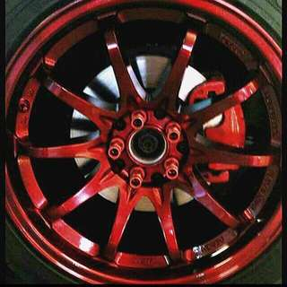 Rim spraying, Brake Caliper Spraying, Carbon fibre Relacquering, Exterior parts such us front lip, front grill, side skirt, rear diffuser spraying & any other spraying.