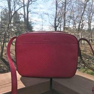 Fossil Jenna Camera Bag in Red Velvet