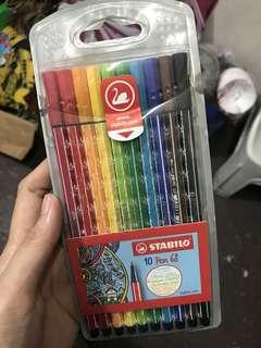 Stabilo 10 Pen Brilliant Colors