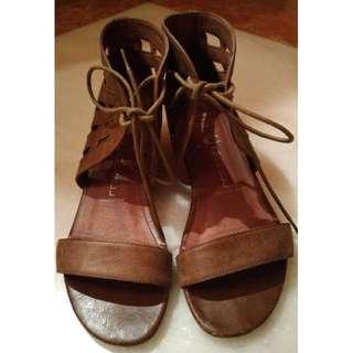 Jeffrey Campbell 手工楔形鞋(Handmade/24cm~24.5/Ibiza Last/粗跟/露趾)