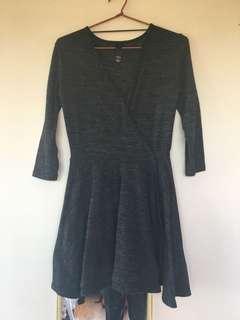 Factorie Grey Knit Wrap Dress