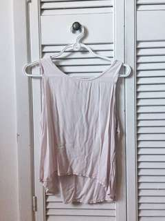 Pink bow back shirt