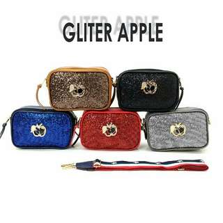 💖Tas Fashion Apple Glitter Snapshot Import