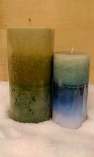 漸層蠟燭(兩個一起賣)