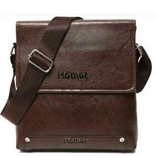 Sling Bag for men  Homer Classic Raide Leather Crossbody