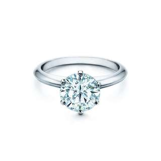 Six-prong diamond ring