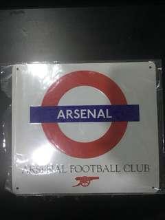 Arsenal metal plate original from London