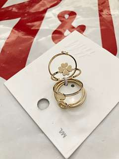 Brand New Auth H&M Rings Set