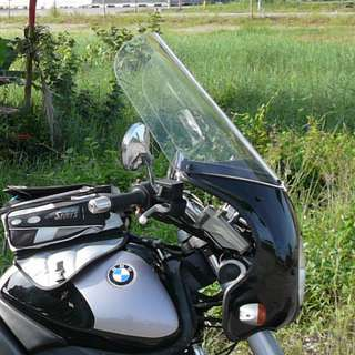 Motor bike windshield: Clear hard high quality plastic-Parabellum USA