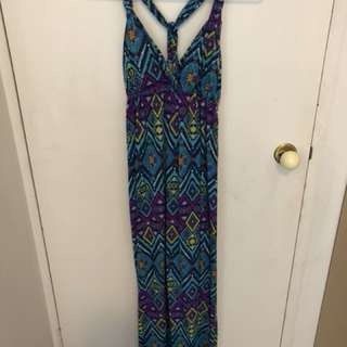 Patterned beach maxi dress