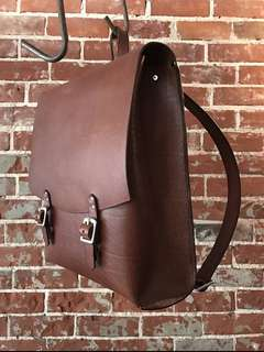 Handmade old school full grain backpack