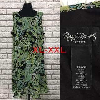 Green Pasiley Plus Size Dress