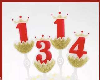 Birthday candles decorate Numbers.0-9