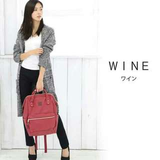 Wine Anello Backpack Leather - ready stock