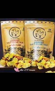 Golden Duck Salted egg fish skin /potato chips
