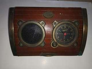 Vintage Clock with radio
