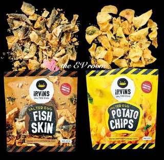 Irvins Salted egg fish skin and potato chips