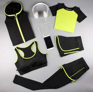 Set of 5 Gym and Summer Clothing