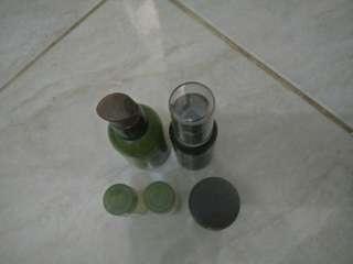 Innisfree green tea seed serum, eye cream, lotion, balancing skin dan benton snail be high conten essence