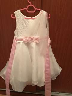 Princess dress with beads and lace/ flowers- 2yr old