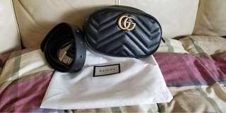 Gucci GG Marmont 腰包 黑色