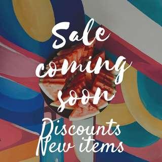 Big Sale coming soon!