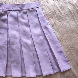 Pleated Tennis Skirt - Purple/Lilac