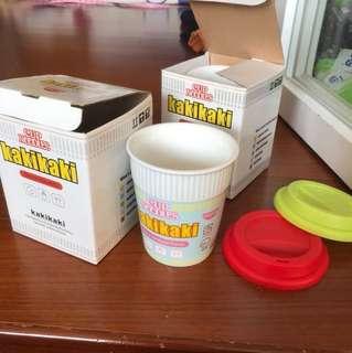 🚚 「二手」cup noodles 雙層環保造型杯
