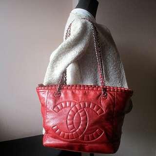 CHANEL CC Logo Tote Bag Authentic