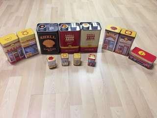 Shell tin collection
