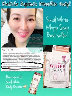 Snail white whipp soap Thailand
