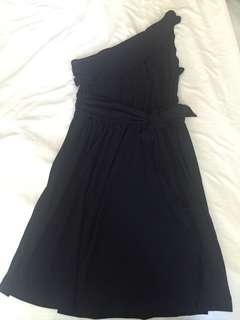 Little Black Dress. One shoulder Black Dress