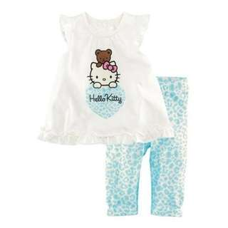 Girl Hello Kitty Set Top +Pant Blue / Pink