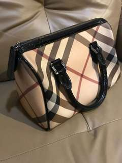 Authentic Burberry Nova Check Bowling Bag