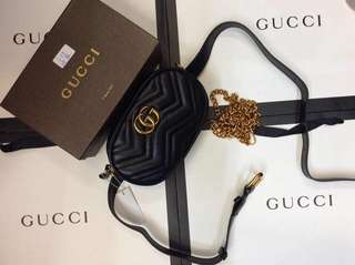 Gucci Marmont Matelassé Leather Belt Bag