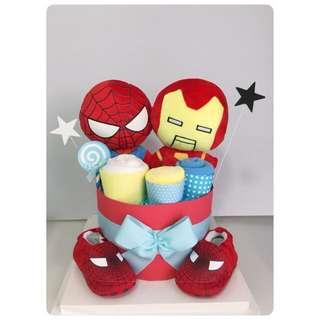 Hero Diaper cake