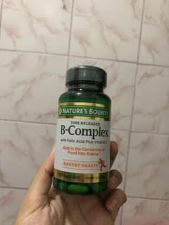 Nature's Bounty B Complex Vitamins Plus Vitamin C