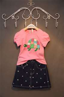 Girl Set 2pcs Top+Skirt Jean