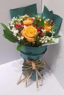 Free D flower bouquet 2