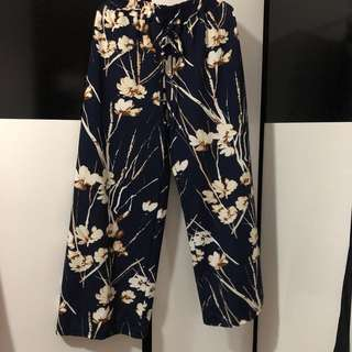 Floral Pants in Blue