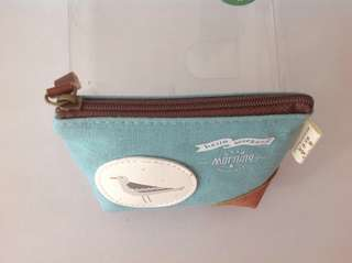 Grey bird purse