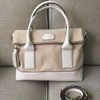 Price Reduced To $80! Preloved Kate Spade Southport Avenue Fabric Natural