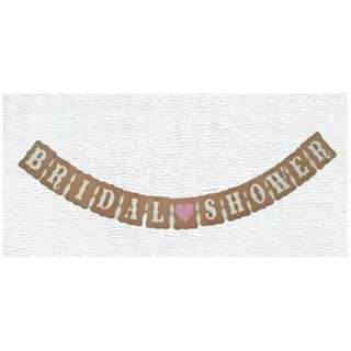 Bunting Banner Bridal Shower Coklat