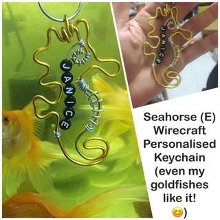 Seahorse (E) Wirecraft Personalised Keychain [ Children's Day Teachers Valentine Christmas Raya birthday door graduation farewell  gifts handmade uncle.anthony uncle anthony uac ] FOR MORE SUCH CRAFTS, 👉 http://carousell.com/p/130210386
