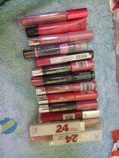 Assorted lippies
