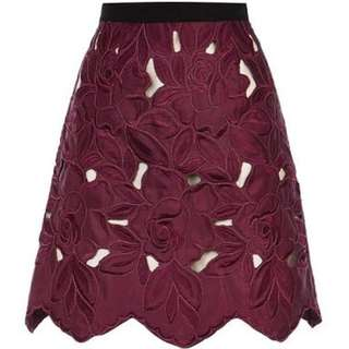 Original COAST Maroon A Line Skirt