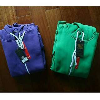 SUPER SALE DISCOUNT! Blank Hoodie Sleeveless by PSD. Green & Purple. Available Size S & M (Size Luar). IDR 300k for 2 Pcs