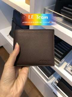 (Pre-order)US Coach Men Wallet,Special Price,Est.indent 4-6 Weeks Can Collect It Upon Confirmation Order,Direct Courier From US. BEST PRICE OFFER (NON NEGOTIABLE)